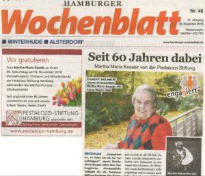 Artikel im Hamburger Wochenblatt vom 16.11.2016 über Martha-Maria Kessler (PDF)