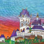 Das Februar-Motiv hat Katrin gemalt.