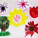 Das Mai-Kalenderblatt ist von Sonja gemalt.