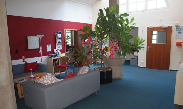 die ASP-Begegnungsstätte und ihr freundliches Foyer