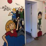 """""""Neue"""" Wände im Provisorium der GBS Altrahlstedt"""