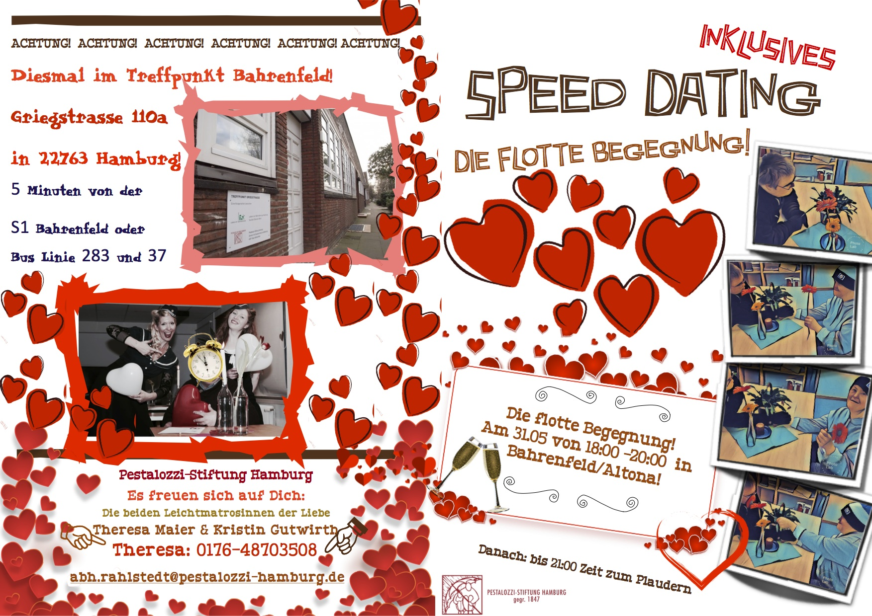 Speed Dating Altona: Flyer vorne