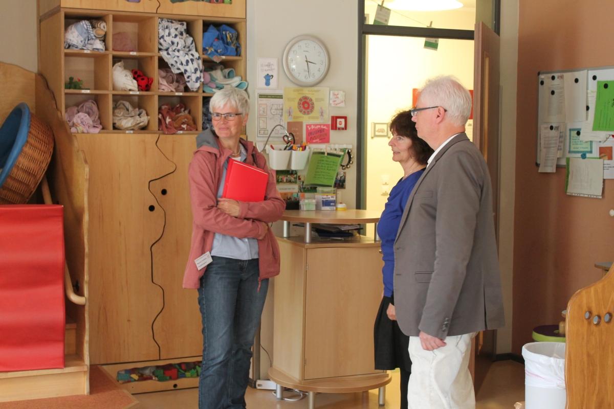 Verwaltungsrat zu Besuch in der Kita Baumhaus in Eppendorf