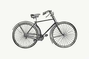 Illustration eines Fahrrads von 1891